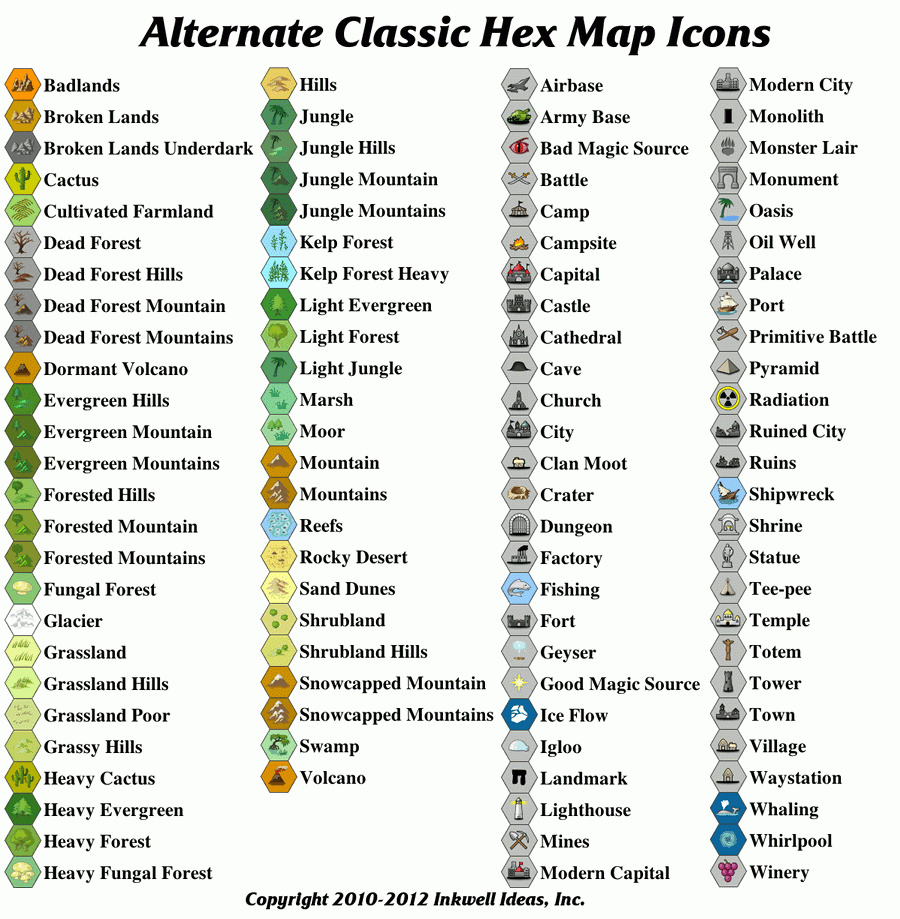 Alternate Clic Hex Map Icons - Inkwell Ideas | Hex/Dun/Cityographer on here maps icon, email icon, yelp icon, google map pin, flickr icon, safari icon, bing icon, rss icon, linkedin icon, map pin icon, google earth, gmail icon, facebook icon, google map pointer, youtube icon, msn icon, mapquest icon, speedtest icon, phone icon, twitter icon,